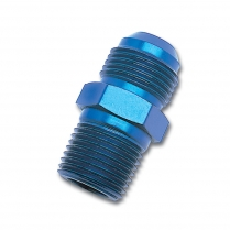 "-6 AN x 1/2"" NPT Straight Adapter Fitting - Blue"