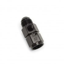 -6 AN Male to Female x 1/8 NPT Straight Fitting - Black
