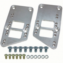 Chevy SB to LS Adapter Plate Kit in Black Aluminum