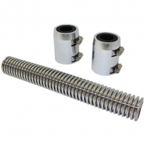 """12"""" Radiator Hose Kit with Polished Ends & Stainless Hose"""