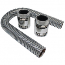 """24"""" Radiator Hose Kit with Polished Ends & Stainless Hose"""