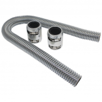 """36"""" Radiator Hose Kit with Polished Ends & Stainless Hose"""
