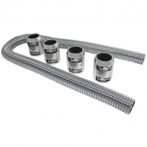 """48"""" Radiator Hose Kit with Polished Ends & Stainless Hose"""