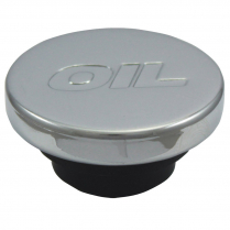 Push In Style Oil Plug with Logo - Black & Chrome