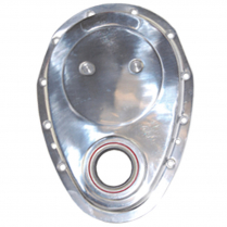 Chevy SB Timing Chain Cover - Polished Aluminum