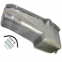 Chevy SB 283-350 1955-78 Finned Oil Pan - Polished Alum