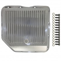 GM Turbo 350 Finned Transmission Pan - Polished Aluminum