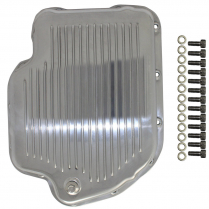 GM Turbo 400 Finned Transmission Pan - Polished Aluminum