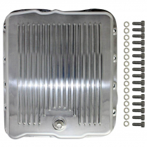 GM Turbo 700 Finned Transmission Pan - Polished Aluminum
