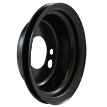 Chevy BB SWP 1 Groove Crank Add-On Pulley - Black Steel