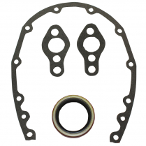 Chevy Small Block 4 Piece Timing Cover Gasket Set - Fiber