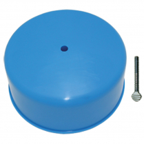 "Carburetor Cover for 5-1/8"" Neck - Blue Plastic"
