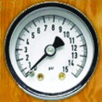 "Mechanical 1-1/2"" 0-15 PSI Fuel Pressure Gauge - White Face"