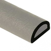 """Rubber Hood Lacing, Half Round Hollow Core 5/8"""" x 3/8"""" x 8'"""