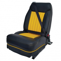 "19"" Reclining Bucket Seat, 3 Point Belt System - Leather Rt"