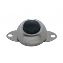 Horn Button Switch - Chrome with Black Button