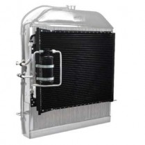 1939-40 Ford SuperFlow Condenser with Hard Lines & Drier