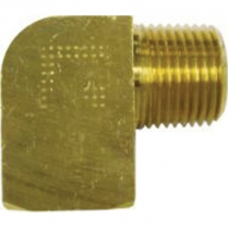 "90 Degree Brass Heater Fitting - 1/2"" NPT to 1/2"" Hose"
