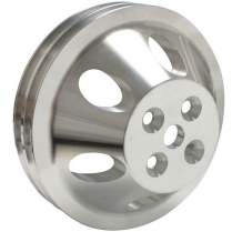 Chevy SB SWP 2 Groove Water Pump Pulley - Satin Finish