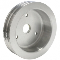 Chevy SB SWP 2 Groove Crank Pulley - Satin Finish