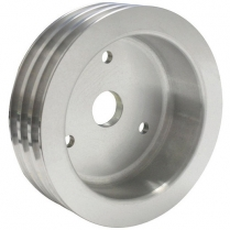 Chevy SB SWP 3 Groove Crank Pulley - Satin Finish