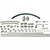 ProLine A/C Line Kit with 2 Way Bulkheads - Stainless Steel