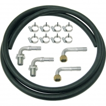 Heater Hose Kit with 90 Degree Bulkheads - Rubber