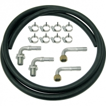 Heater Hose Kit with Straight Bulkheads - Rubber