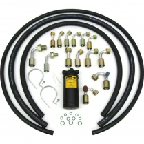 Beadlock R134 A/C Hose Kit with Drier - Black