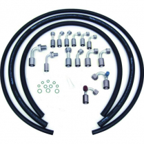 Beadlock R134 A/C Hose Kit without Drier - Black