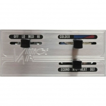 A/C Controls Horizontal Slide Bar - Satin