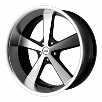 "17 x 7 Nova Machine Black Wheel with 4-3/4""BP and 4"" BS"