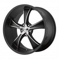 18 x 8 BLVD Black Wheel with 5 x114.30 and 0mm Offset