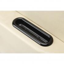 Oval Shaped Arm Rest Door Pulls - Black