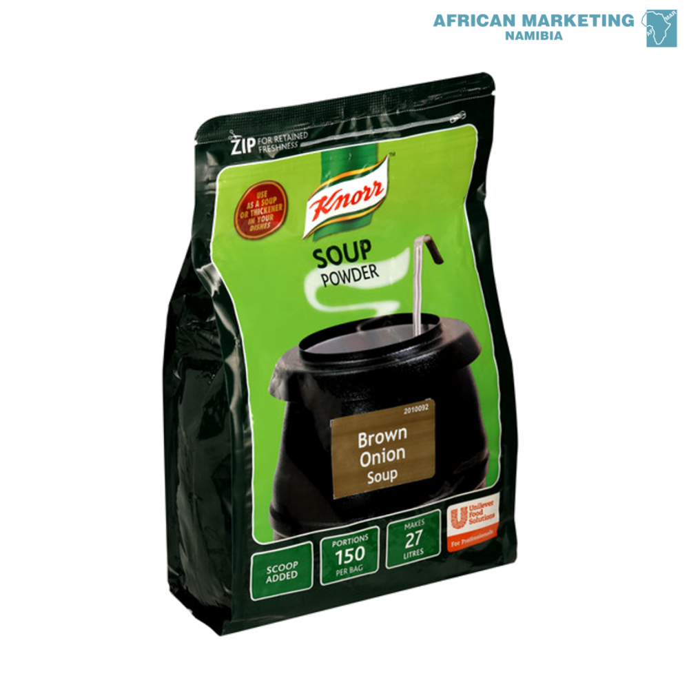 SOUP BROWN ONION 1.6kg - 27ltr *KNORR AFRICAN MARKETING ...